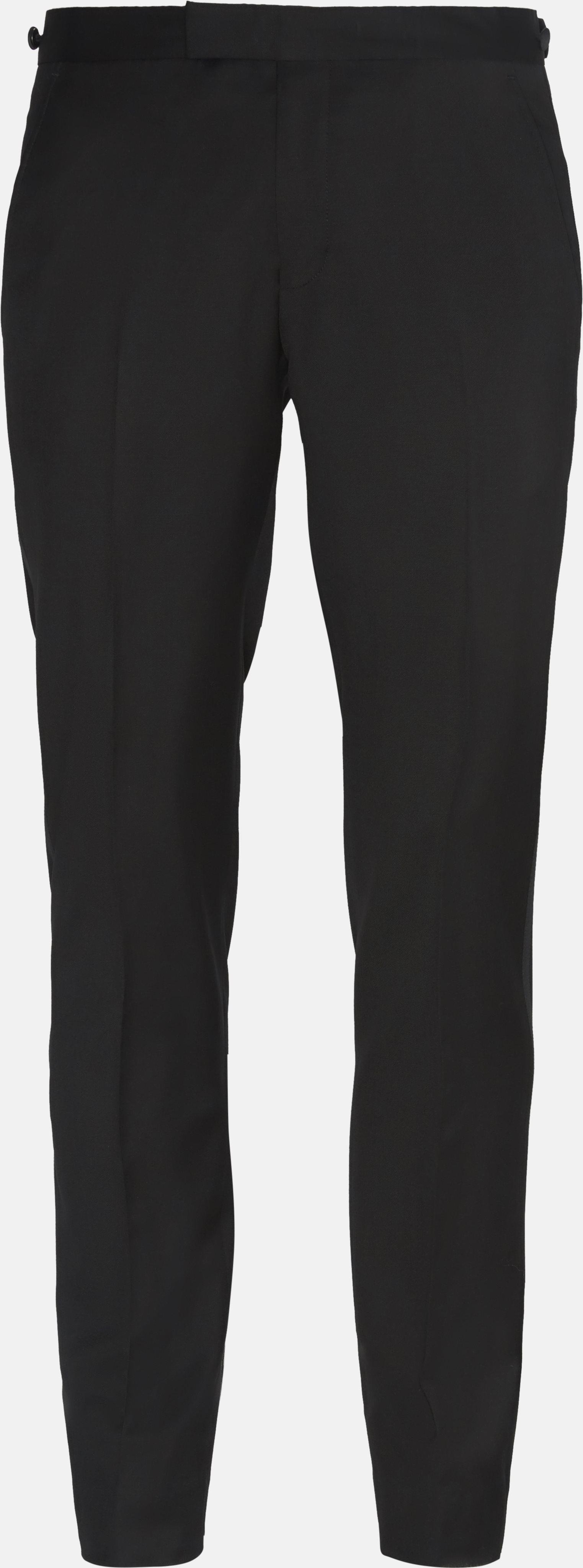 Trousers - Slim - Black