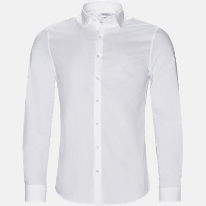 skjorte - Skjorter - Slim - Hvid