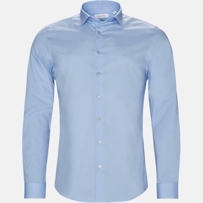 skjorte - Skjorter - Slim - Blå