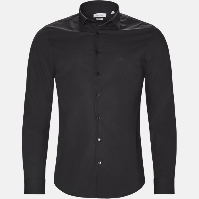 skjorte - Skjorter - Slim - Sort