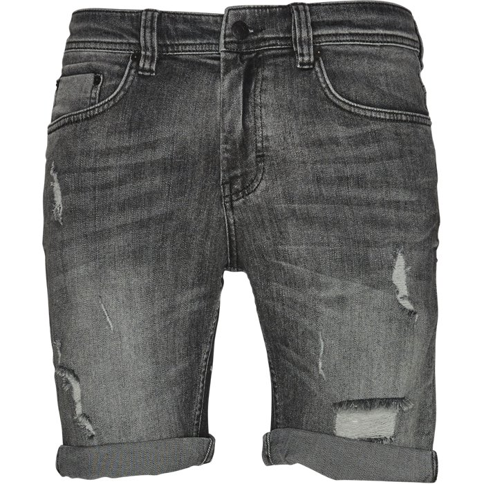 Vintage Grey Mike Shorts - Shorts - Regular - Grå