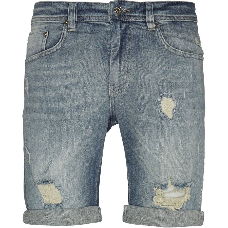 SUPER BLUE HOLES MIKE SHORTS JJ630 - Super Blue Holes Shorts - Shorts - Regular - DENIM - 1