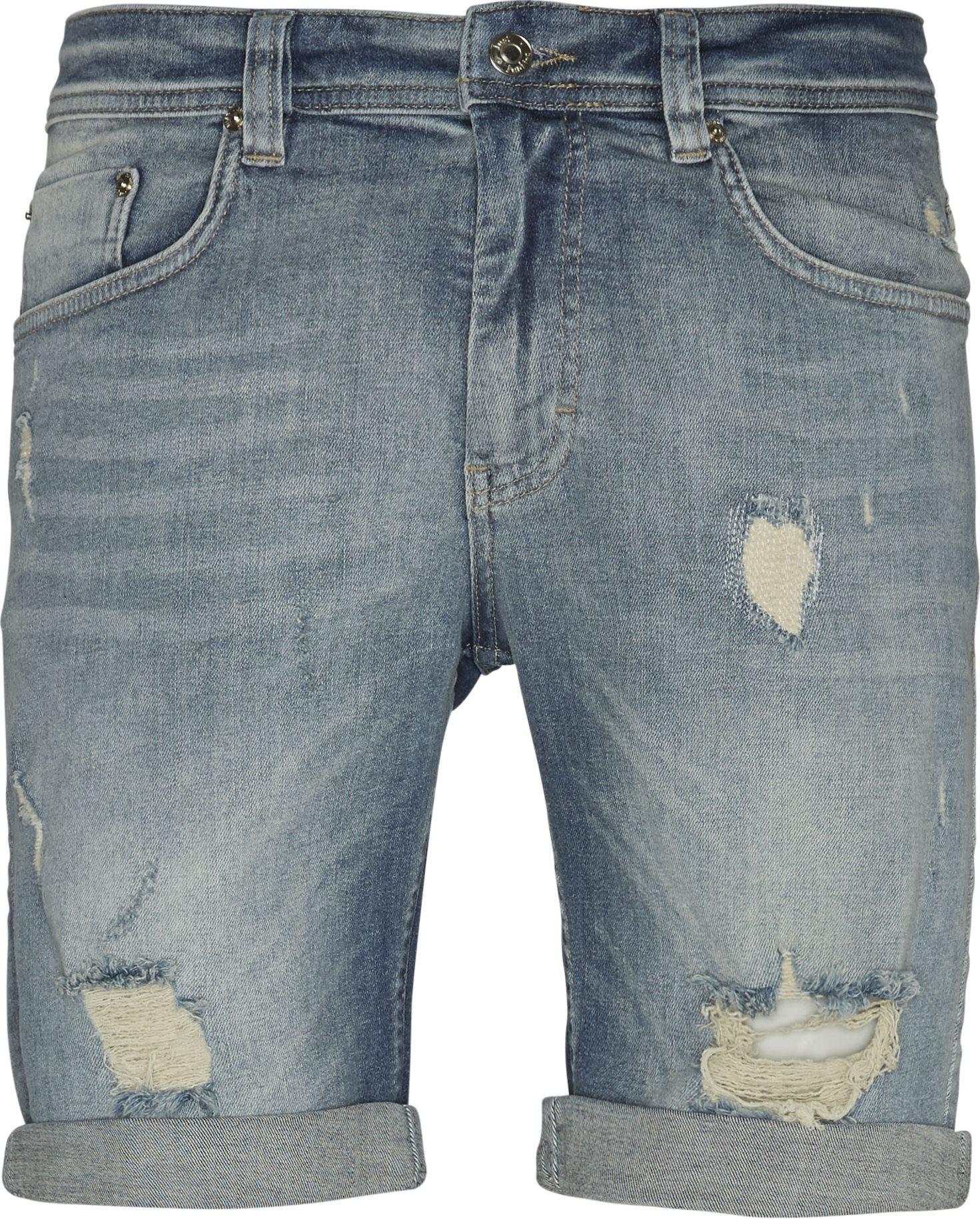 Super Blue Holes Shorts - Shorts - Regular - Denim