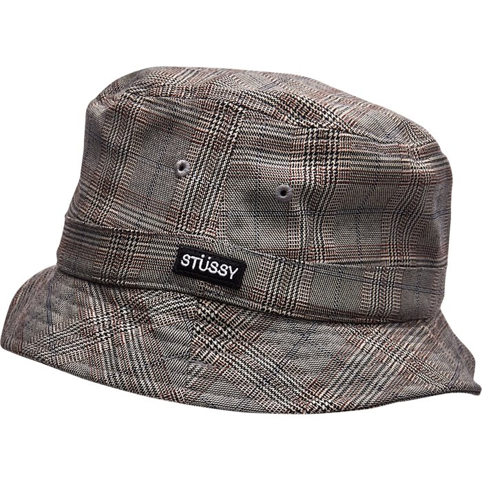 Glen Plaid Bucket - Hatte - Grå