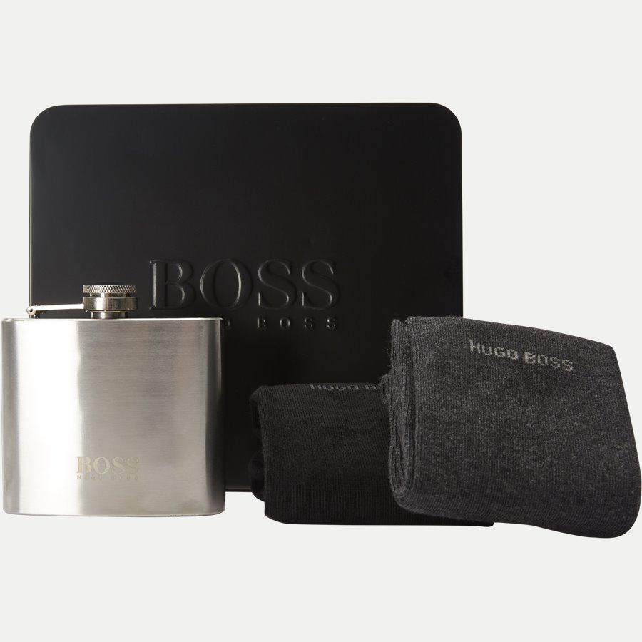 50378663 2P GIFT SET - Gift Box - Lommelærke og 2-pack Sokker - Accessories - SORT - 1