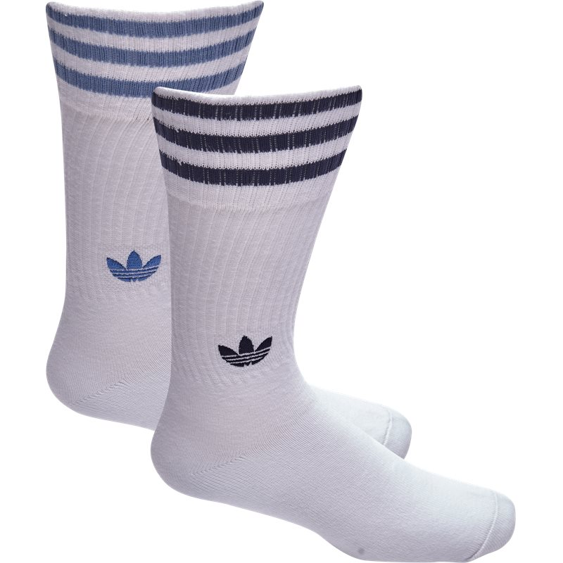 Adidas Originals Solid Crew Socks Hvid/blå