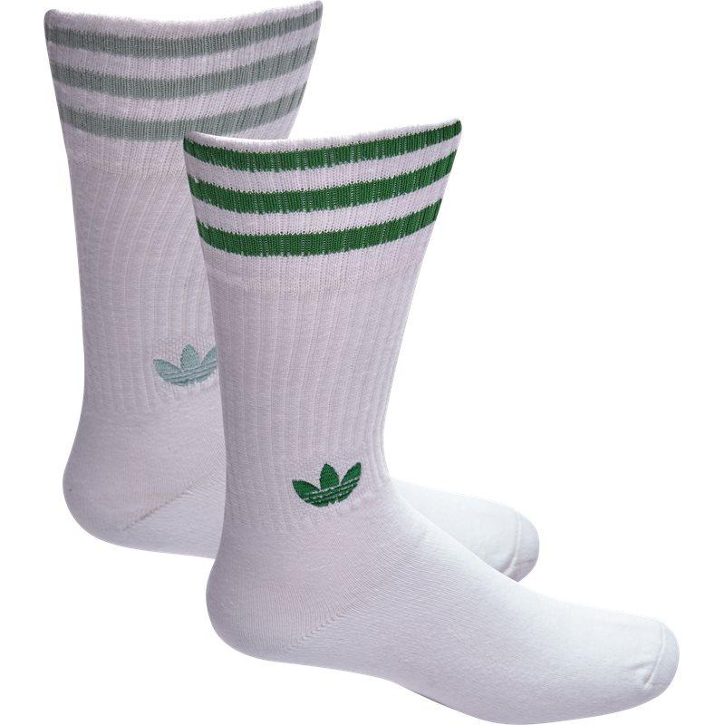 Billede af Adidas Originals Solid Crew Socks Hvid/grøn