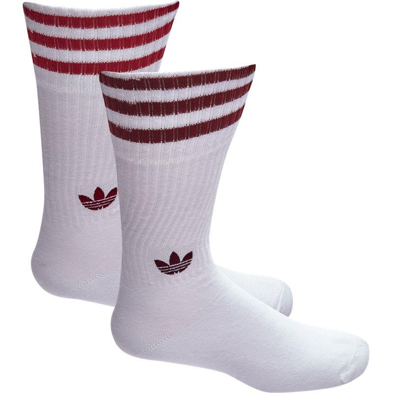 Billede af Adidas Originals Solid Crew Socks Hvid/rød