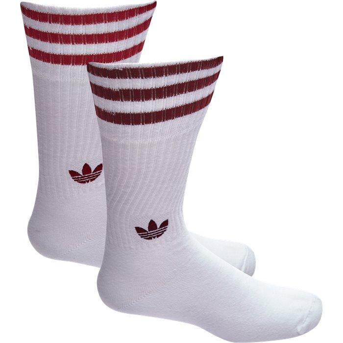 Solid Crew Socks - Strømper - Hvid