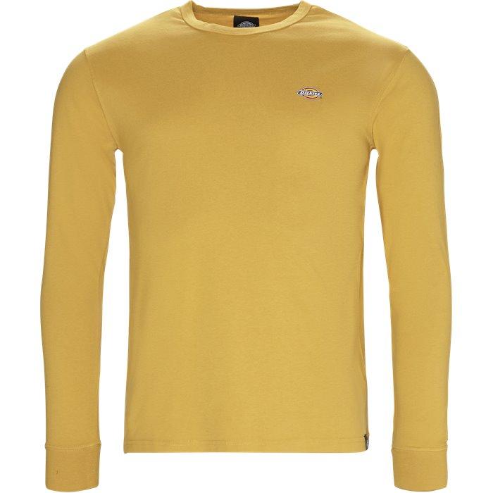 Round Rock langærmet t-shirt - T-shirts - Regular - Gul