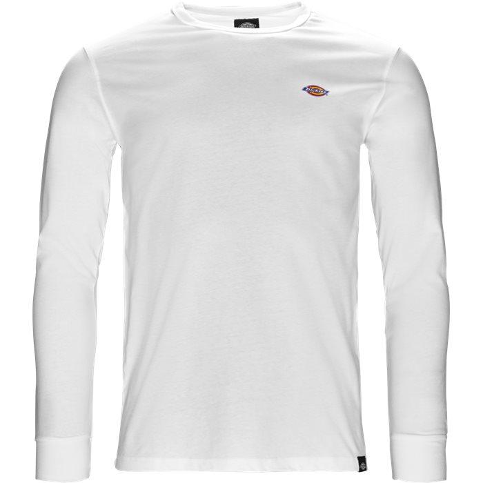 Round Rock langærmet t-shirt - T-shirts - Regular - Hvid
