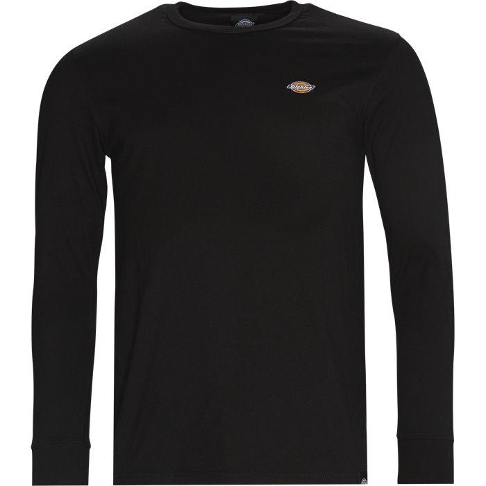 Round Rock langærmet t-shirt - T-shirts - Regular - Sort
