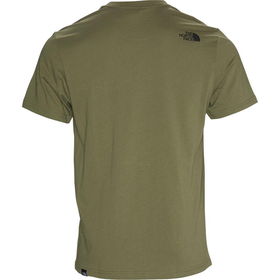 SS FINE TEE - S/S Fine Tee - T-shirts - Regular - GRØN/SORT - 3