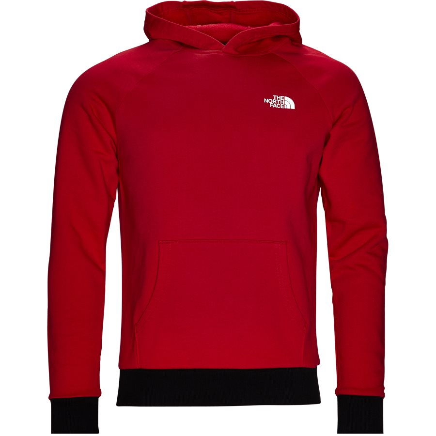 RAGLAN RED BOX HOODIE. - Raglan Red Box Hoodie - Sweatshirts - Regular - RØD - 2