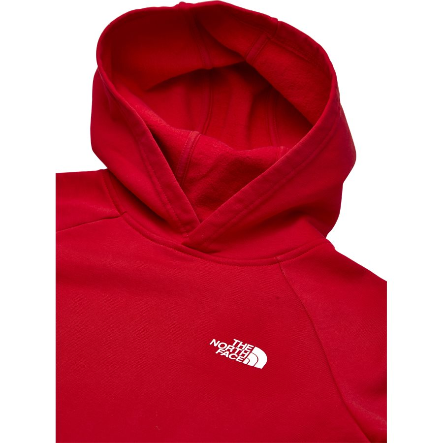 RAGLAN RED BOX HOODIE. - Raglan Red Box Hoodie - Sweatshirts - Regular - RØD - 4