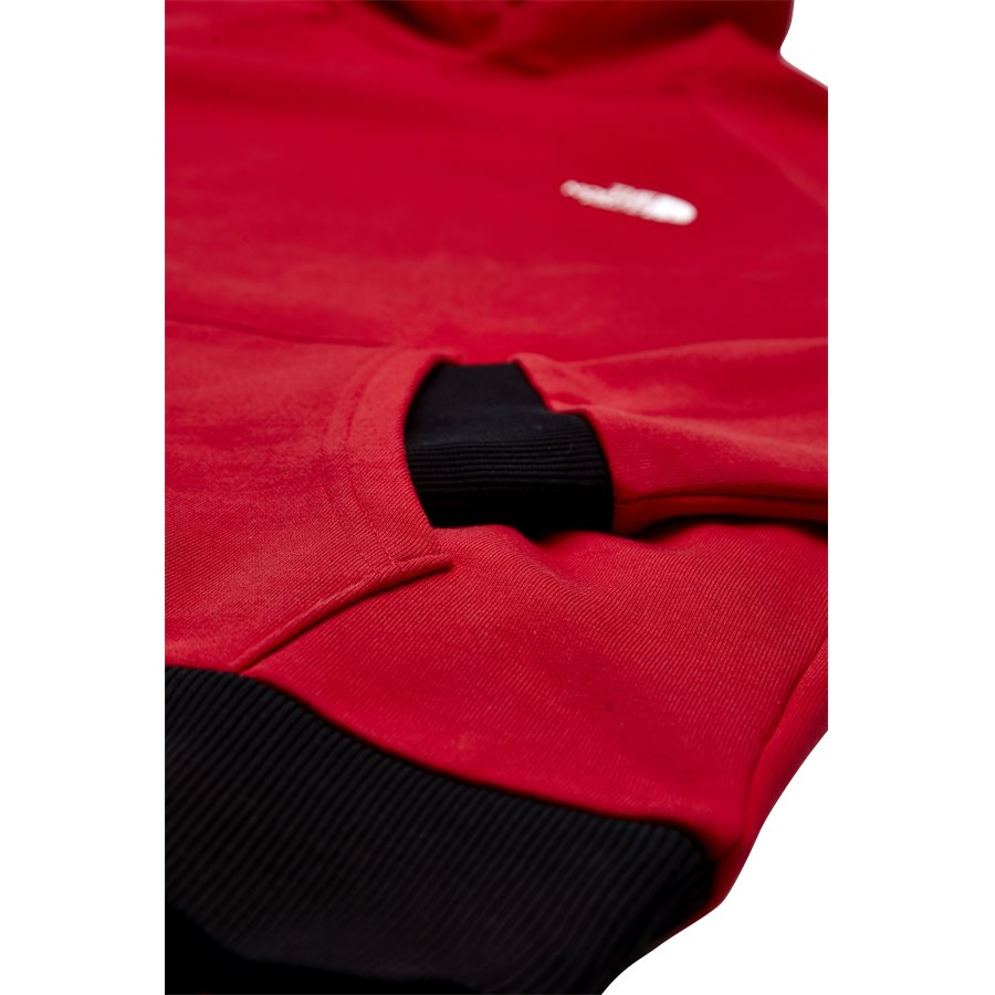 RAGLAN RED BOX HOODIE. - Raglan Red Box Hoodie - Sweatshirts - Regular - RØD - 5