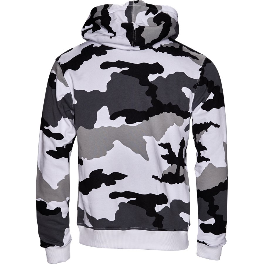 PARIS HOOD CAMO BLACK/WHITE - Paris Hood Camo - Sweatshirts - Regular - SORT/HVID - 2