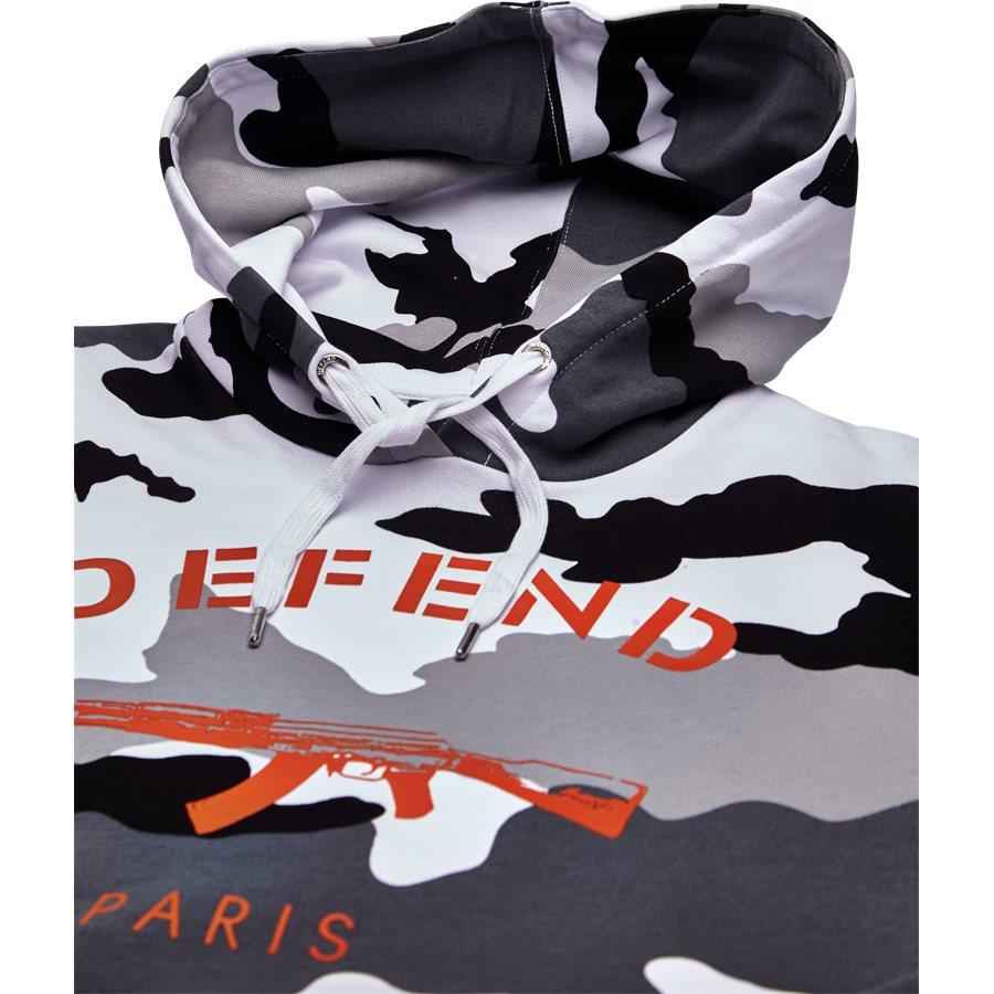 PARIS HOOD CAMO BLACK/WHITE - Paris Hood Camo - Sweatshirts - Regular - SORT/HVID - 3