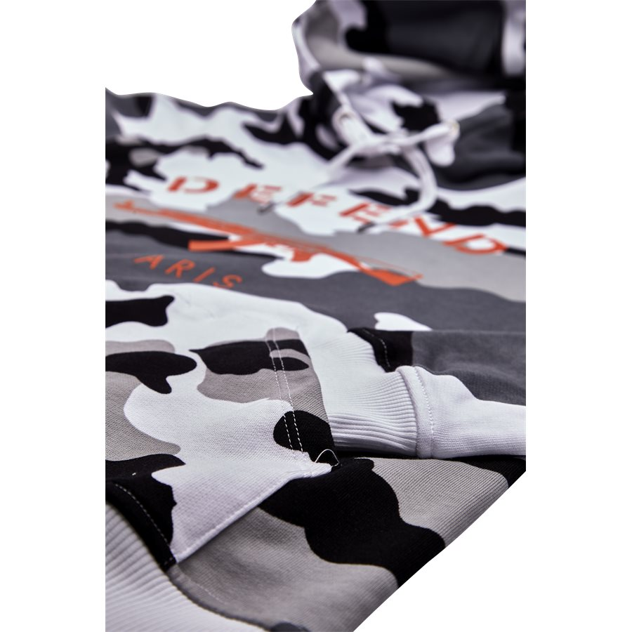 PARIS HOOD CAMO BLACK/WHITE - Paris Hood Camo - Sweatshirts - Regular - SORT/HVID - 4