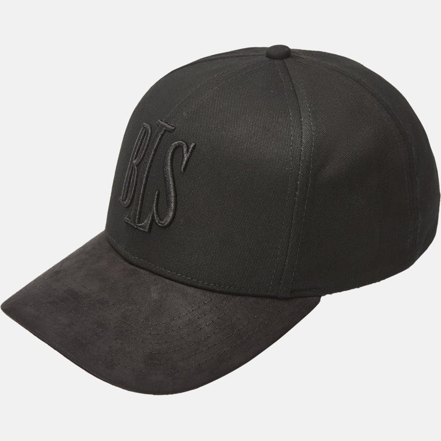 PREMIUM SUEDE BASEBALL CAP - Huer - BLACK - 1
