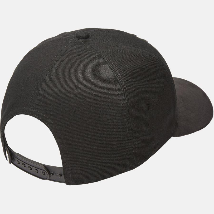 PREMIUM SUEDE BASEBALL CAP - Huer - BLACK - 2