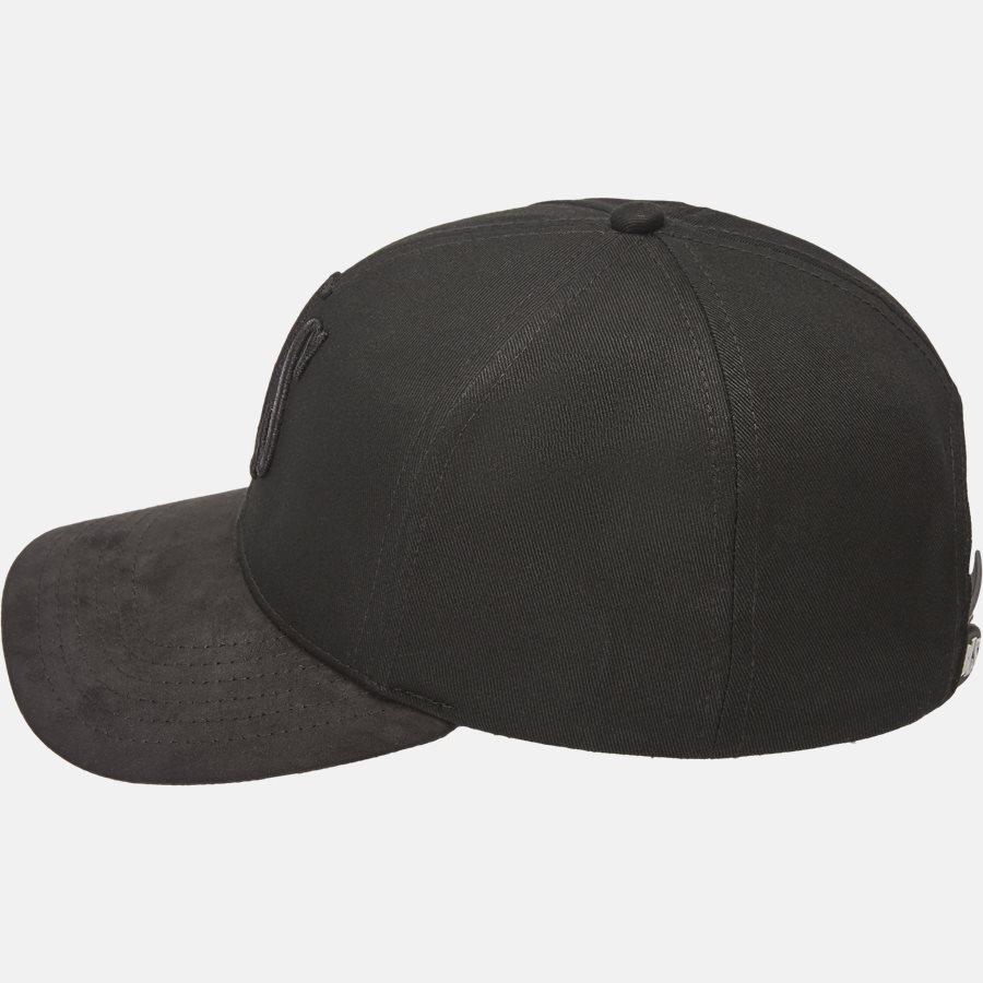 PREMIUM SUEDE BASEBALL CAP - Huer - BLACK - 3