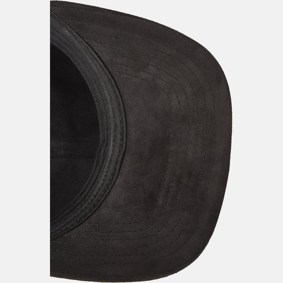 PREMIUM SUEDE BASEBALL CAP - Huer - BLACK - 5