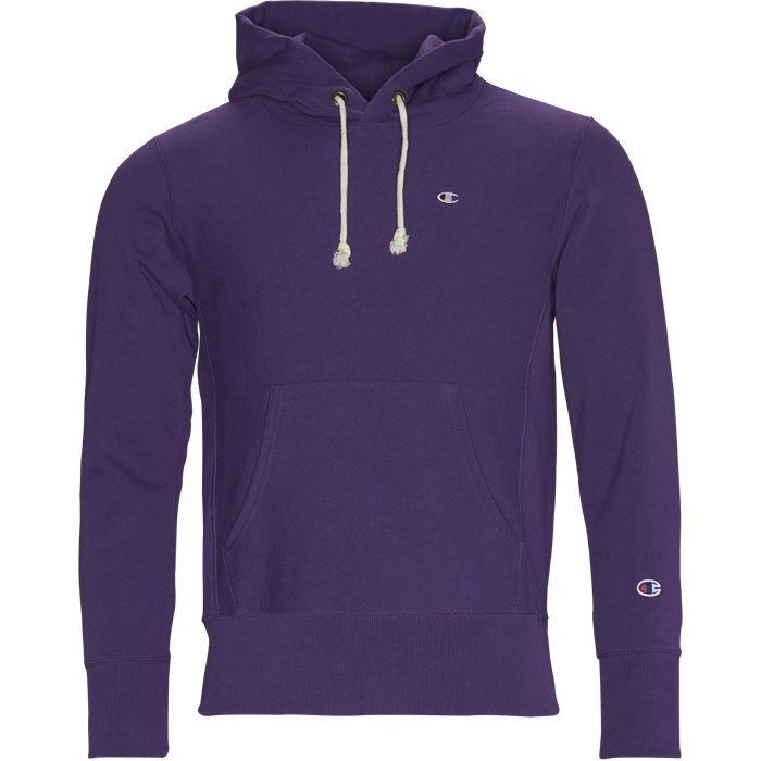 Hooded Sweatshirt - Sweatshirts - Regular - Lilla