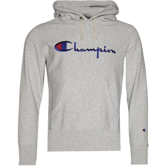 Hooded Sweatshirt - Sweatshirts - Regular - Grå