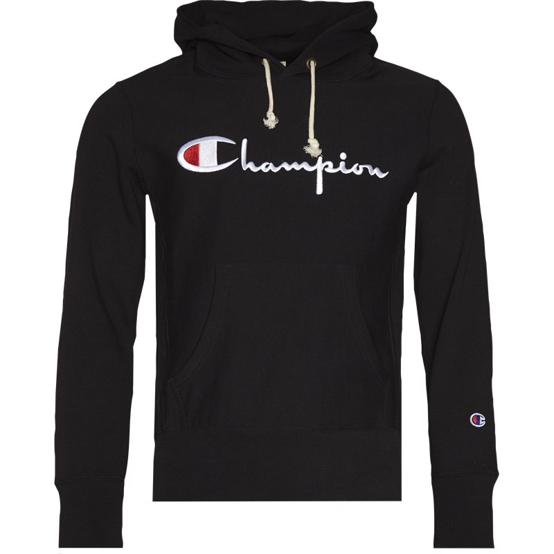Champion hooded sweatshirt sort fra champion på quint.dk