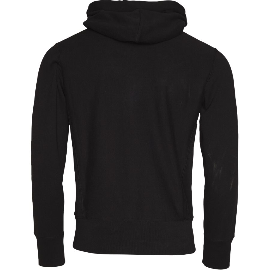 210967 HOODED SWEAT - Sweatshirts - Regular - SORT - 2