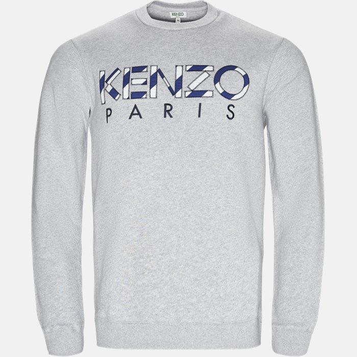Sweatshirt - Sweatshirts - Regular slim fit - Grå