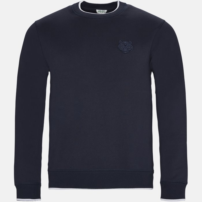 Sweatshirt - Sweatshirts - Regular slim fit - Blå