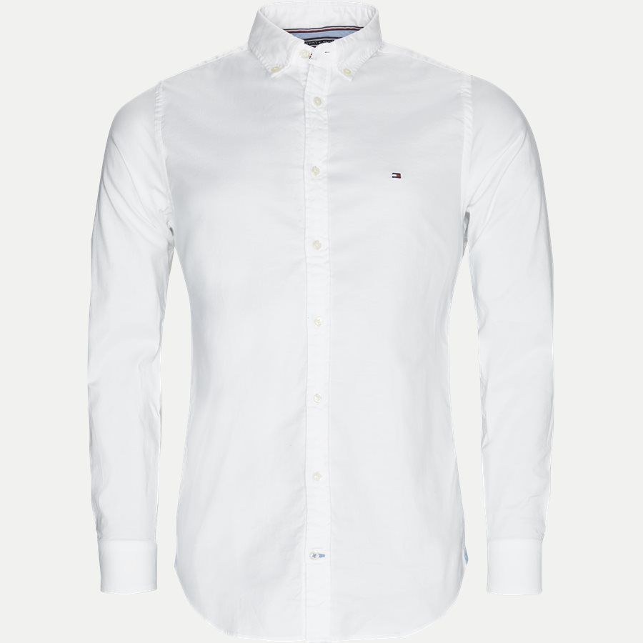 CORE STRETCH SLIM OXFORD - Core Stretch Oxford Skjorte - Skjorter - Slim - HVID - 1