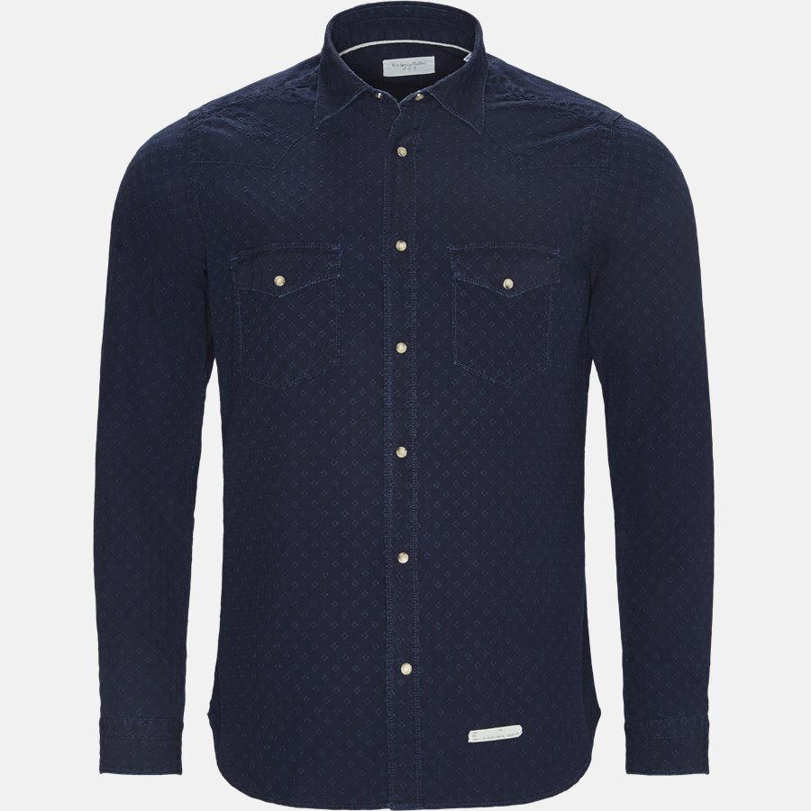 T6H NZ8 - skjorte - Skjorter - Slim - NAVY - 1