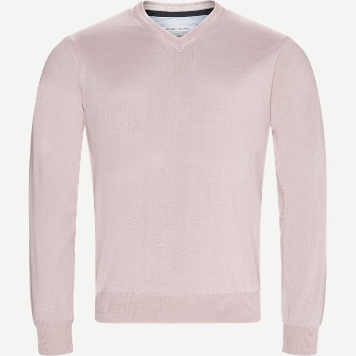Perigia V-neck Strik - Strik - Regular - Pink