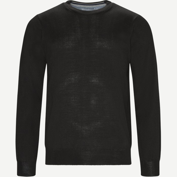 Brescia Crew Neck Strik - Strik - Regular - Sort