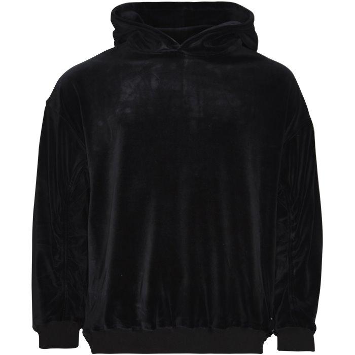 Velour Sweat - Sweatshirts - Loose - Sort
