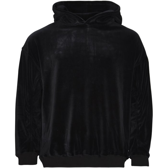 Velour Sweat - Sweatshirts - Loose - Sort