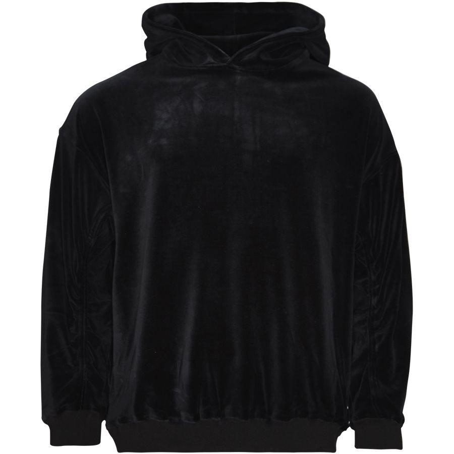 VELOUR SWEAT - Velour Sweat - Sweatshirts - Loose - SORT - 1