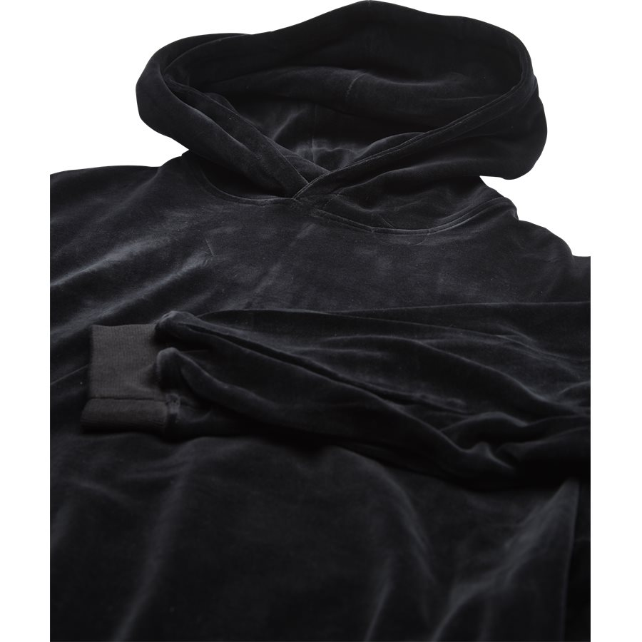 VELOUR SWEAT - Velour Sweat - Sweatshirts - Loose - SORT - 3