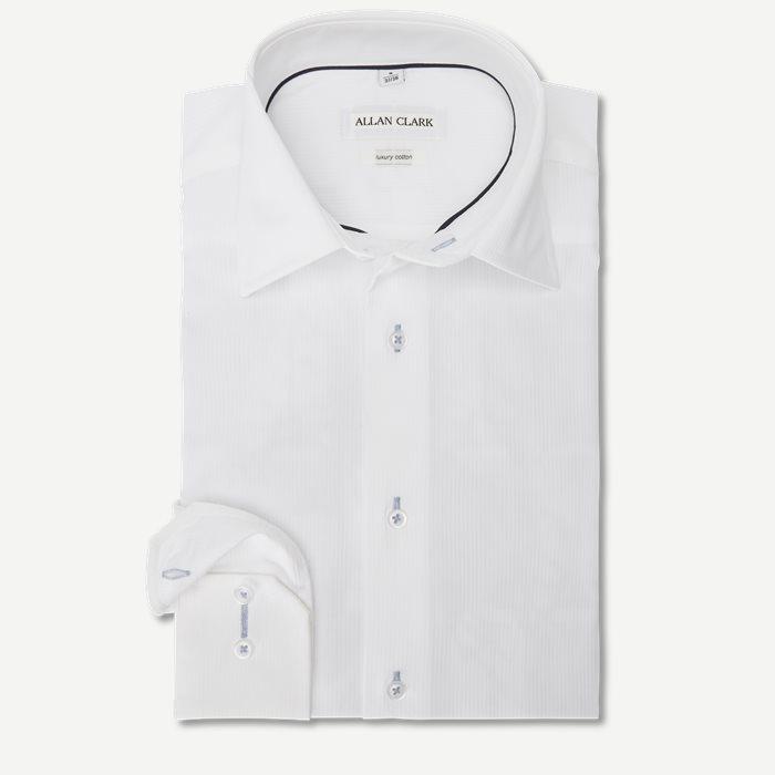 Diego Skjorte - Skjorter - Regular - Hvid