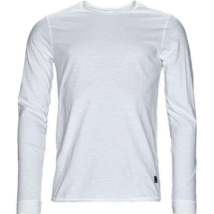 Flip Slub L/S - T-shirts - Regular - Hvid