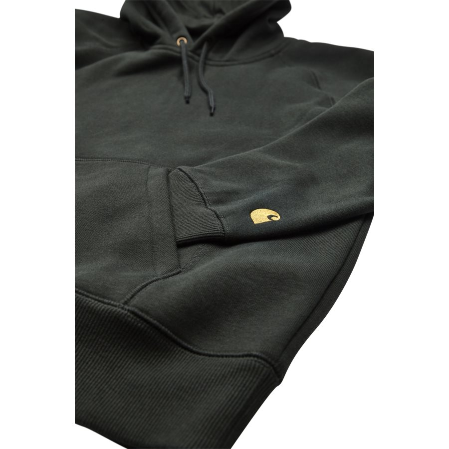 HOODED CHASE I026384. - Hooded Chase Sweatshirt - Sweatshirts - Regular - LODEN/GOLD - 4