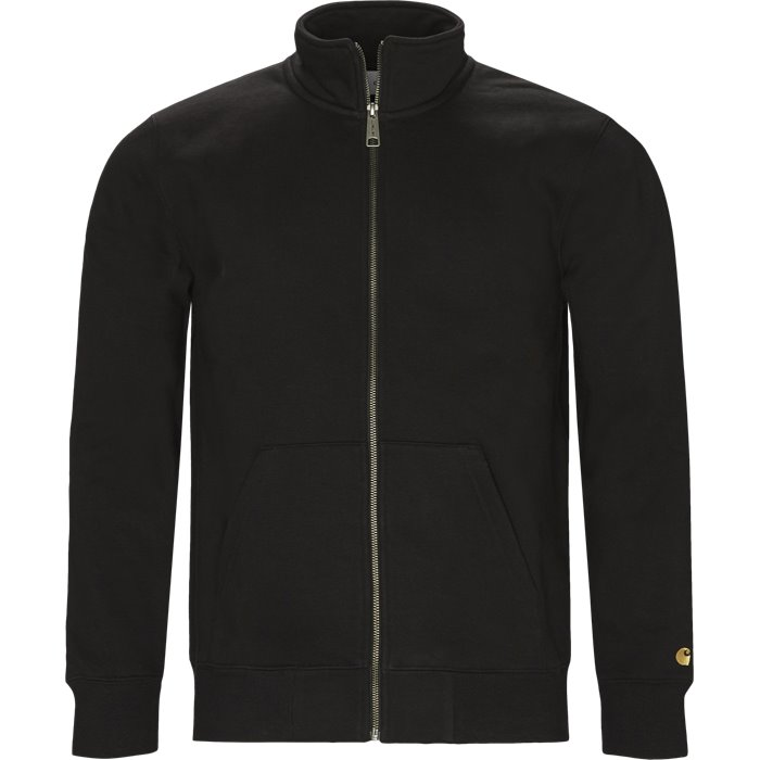 Chase Neck Jacket - Sweatshirts - Regular - Sort