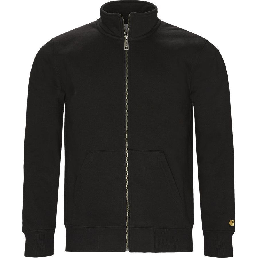 CHASE NECK JACKET I026387 - Chase Neck Jacket - Sweatshirts - Regular - BLACK/GOLD - 1