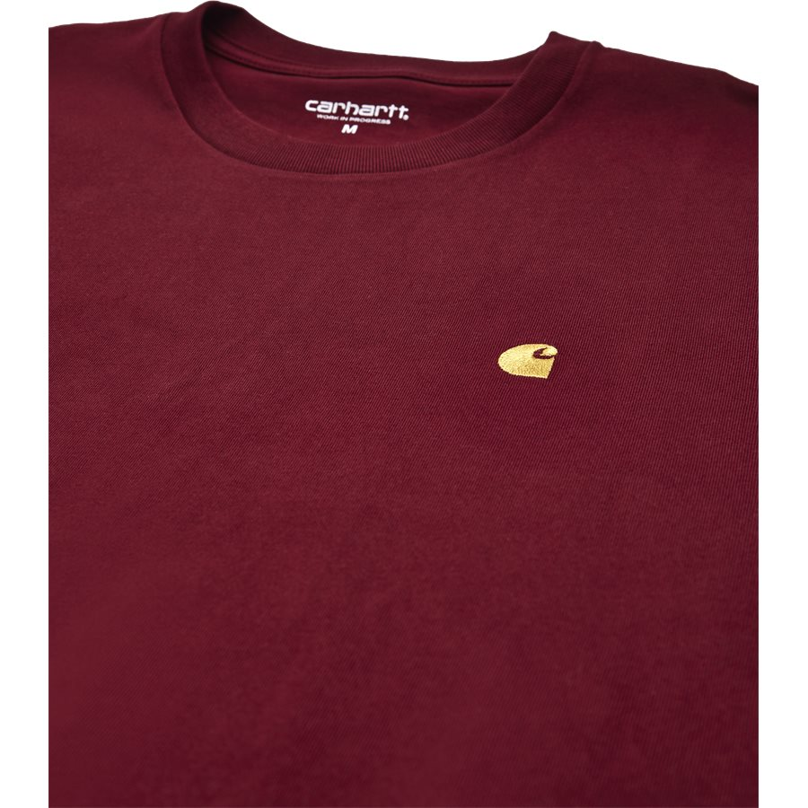 S/S CHASE TEE I026391 - S/S Chase Tee - T-shirts - Regular - MULBERRY/GOLD - 3