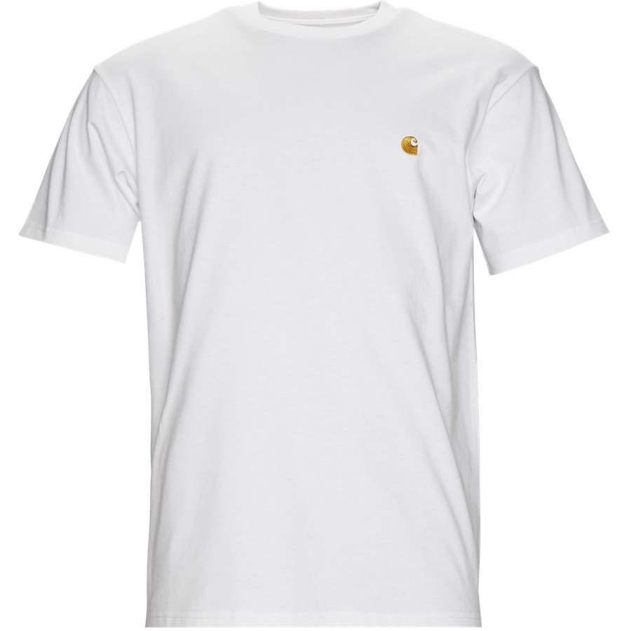 S/S CHASE TEE I026391 - S/S Chase Tee - T-shirts - Regular - WHITE/GOLD - 1