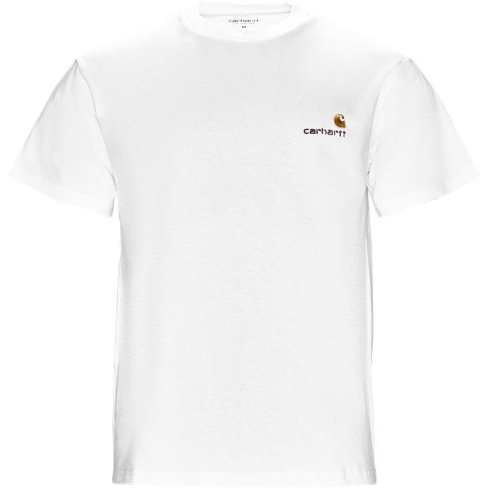 S/S American Script - T-shirts - Regular - Hvid
