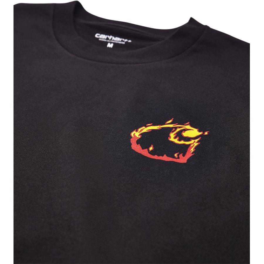 S/S BURNING C I025760 - S/S Burning C - T-shirts - Regular - BLACK - 3